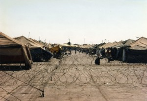 Cuban rafter detention camp in 1994
