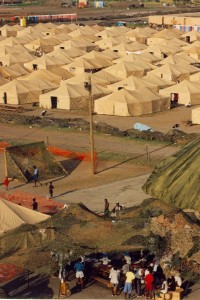 Haitian refugee camp Guantánamo Bay naval base - Photo courtesy Holly Ackerman