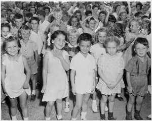Children at Guantánamo Bay Naval Base during a visit from President Harry Truman, 1948. http://www.trumanlibrary.org/photographs/view.php?id=39265&rr=