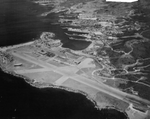 An aerial photo of Guántanamo Bay airfield, 1949. Photo courtesy of Flickr Commons.