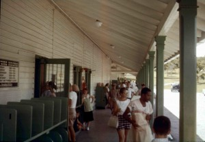 Social Interactions at the Base Commissary. Guantanamo Bay Cuba. 1961-1963. Owned and Provided by Frances Matlock.