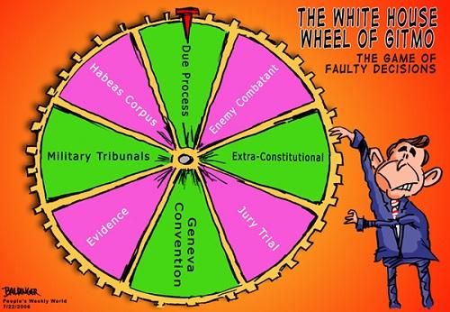 Wheel of Gitmo cartoon