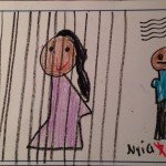 Child's drawing of Madlenka in Jail.