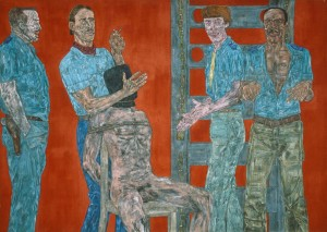Leon Golub, Interrogation II, 1981. Acrylic on canvas 305 x 427 cm (120 x 168 in.)
